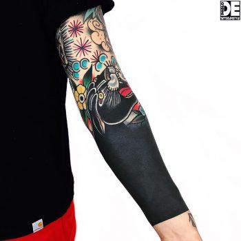 Fully inked left forearm