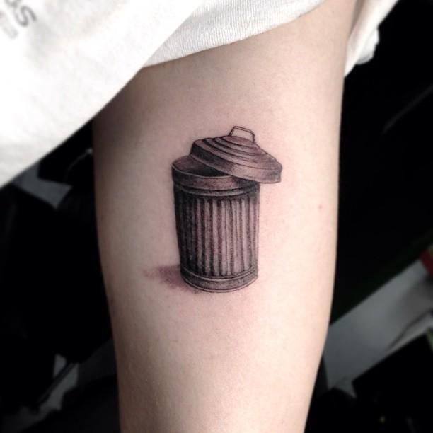 Garbage can tattoo