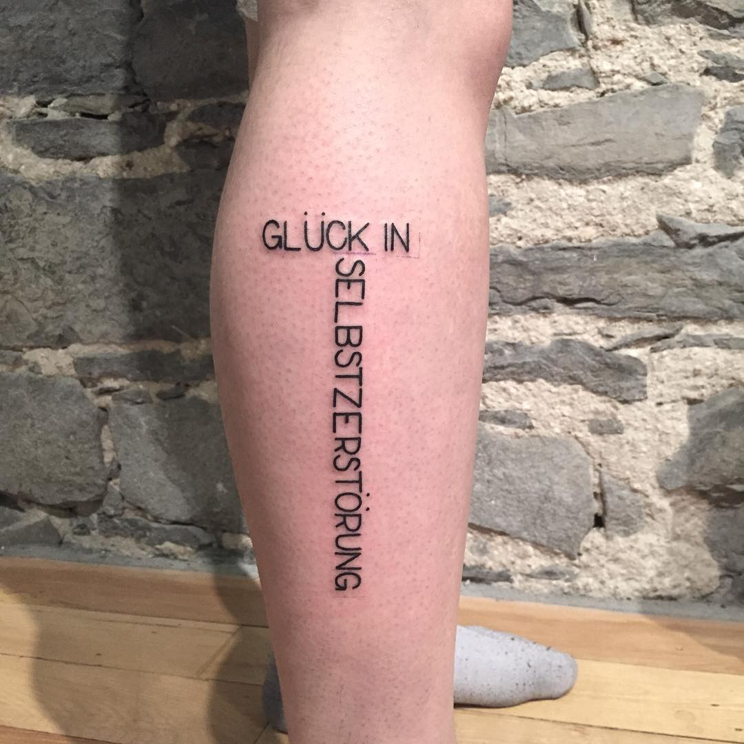German quote tattoo