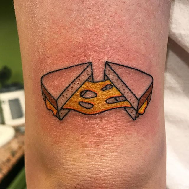 Grilled cheese sandwich tattoo