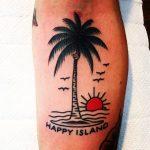 Happy island tattoo