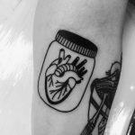 Heart in a jar tattoo
