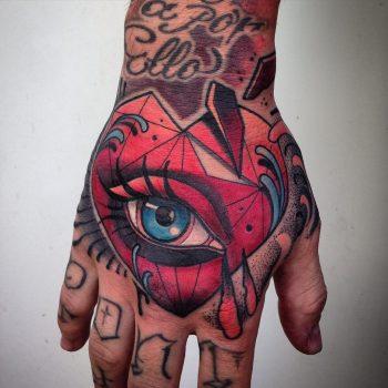 Heart shaped crying eye