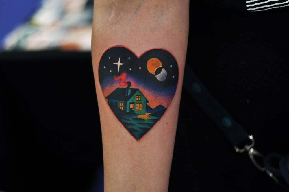 Heart shaped landscape