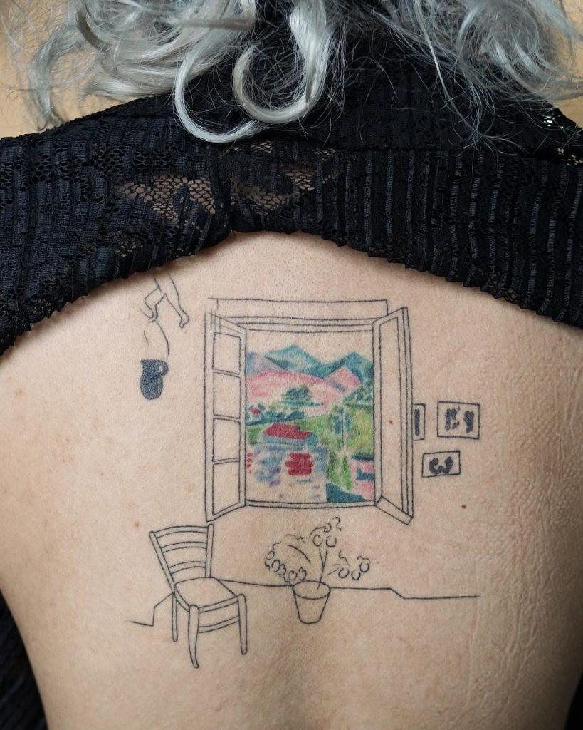 Henri matisse sketch tattoo
