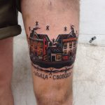 Hometown scenery tattoo