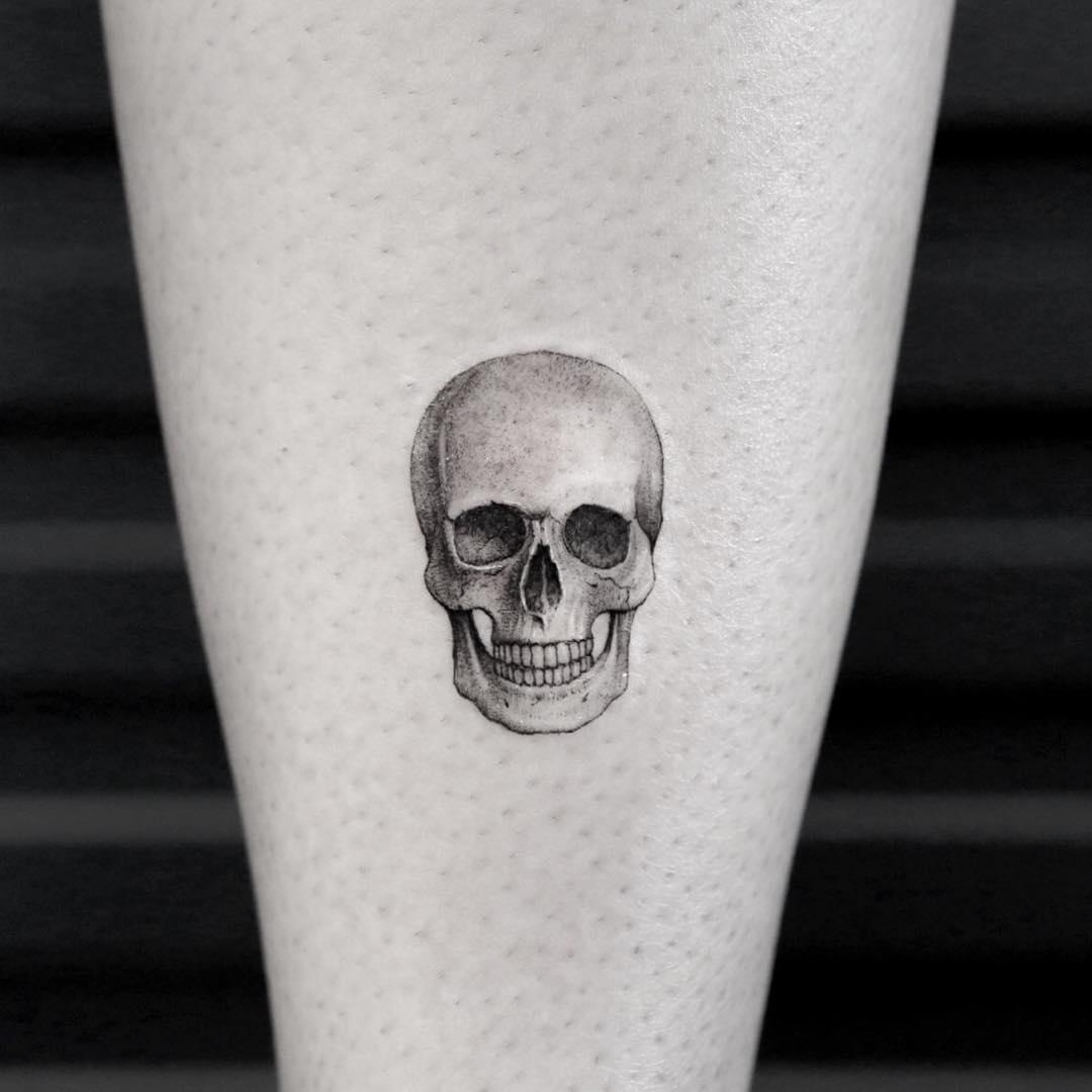 Hyper realistic skull