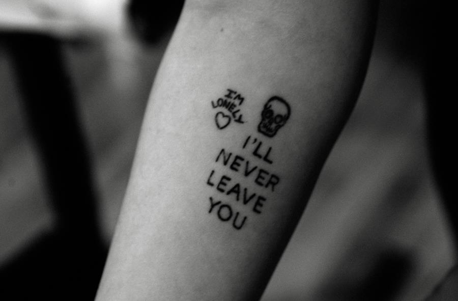 I'll never leave you tattoo