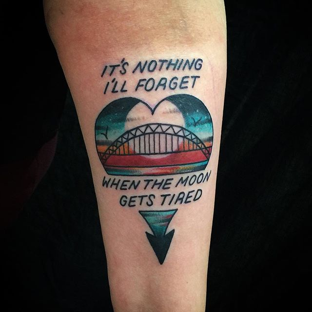 It's nothing i'll forget when the moon gets tired tattoo
