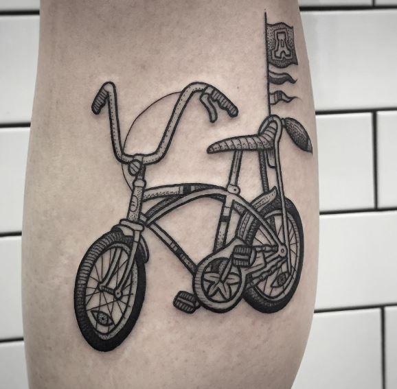 Kids bike tattoo