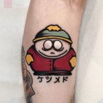 Korean cartman tattoo