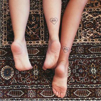 Matching bub tattoos