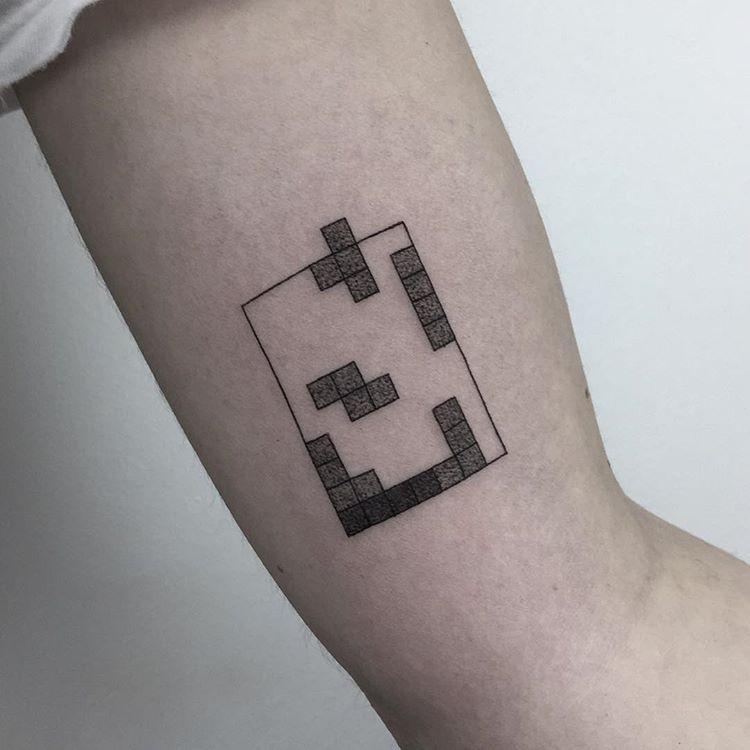 Minimalist tetris tattoo