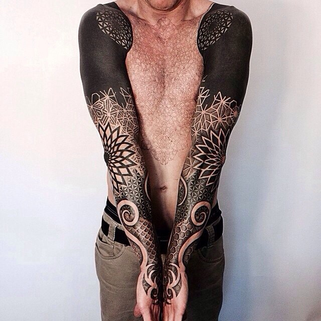 Tattoo Sleeve Negative Space: Negative Space Pattern Sleeves