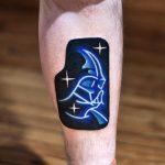 Neon darth vader tattoo