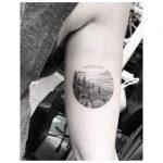 Nostalgic landscape tattoo