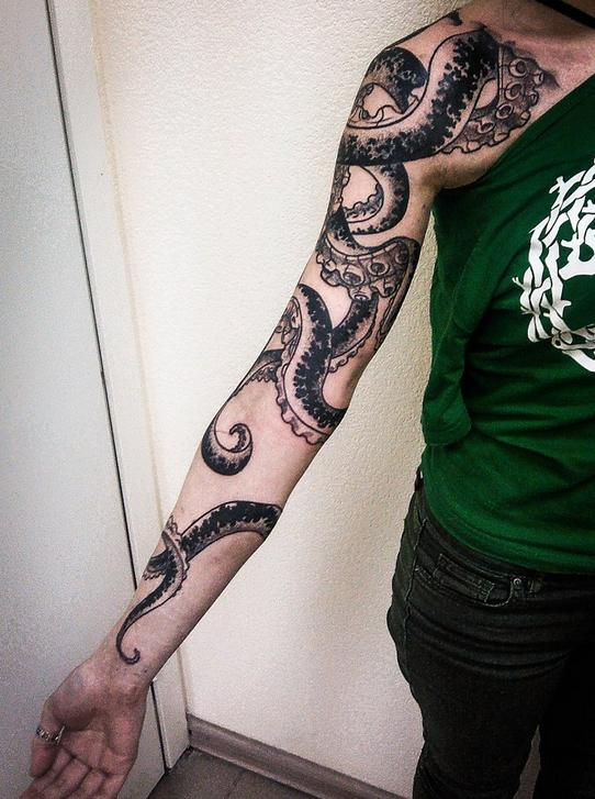 Octopus tattoo on the arm