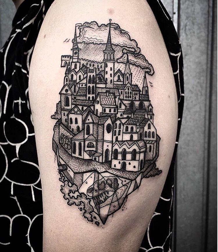 Oldtown tattoo on the arm