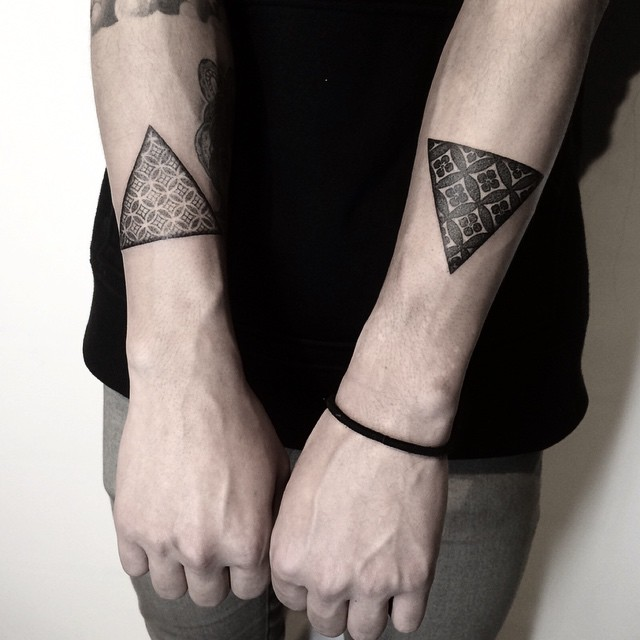 Pattern triangle tattoo