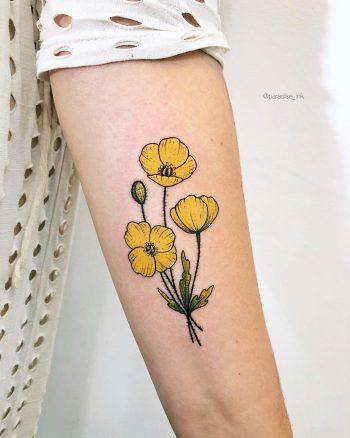 Polar poppies tattoo