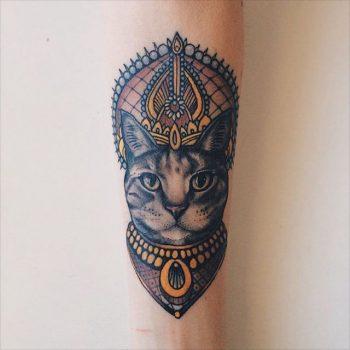 Rich cat tattoo