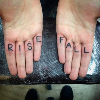 Rise and fall tattoo
