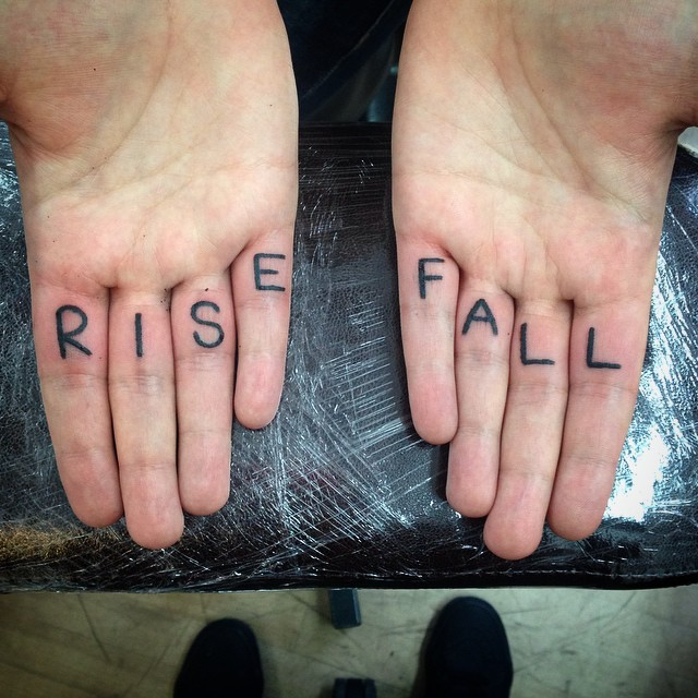 Rise and fall tattoo