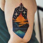 Rocket lift off tattoo
