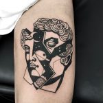 Shattered antique sculpture tattoo