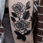 Simple black and grey rose