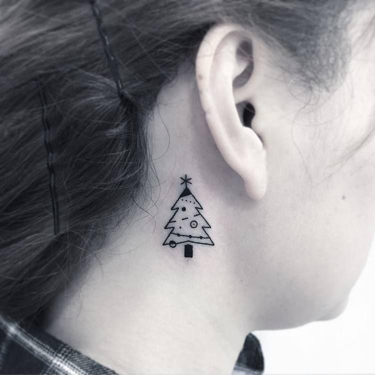 Small Christmas Tree Tattoo Tattoogrid Net