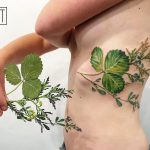 Strawberry leaf thuja and alfalfa tattoo