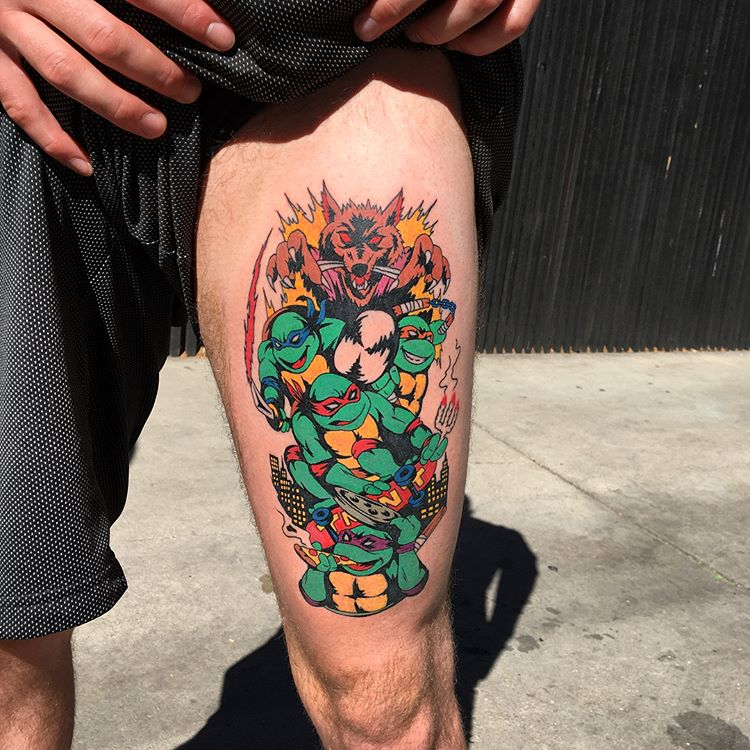 Teenage mutants ninja turtles tattoo