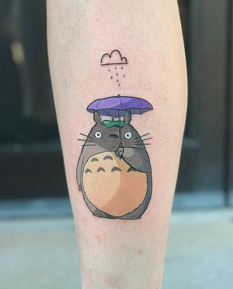 Totoro with an umbrella