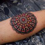 Traditional colorful ornamental mandala