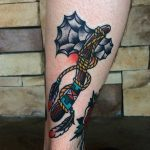 Traditional tomahawk tattoo