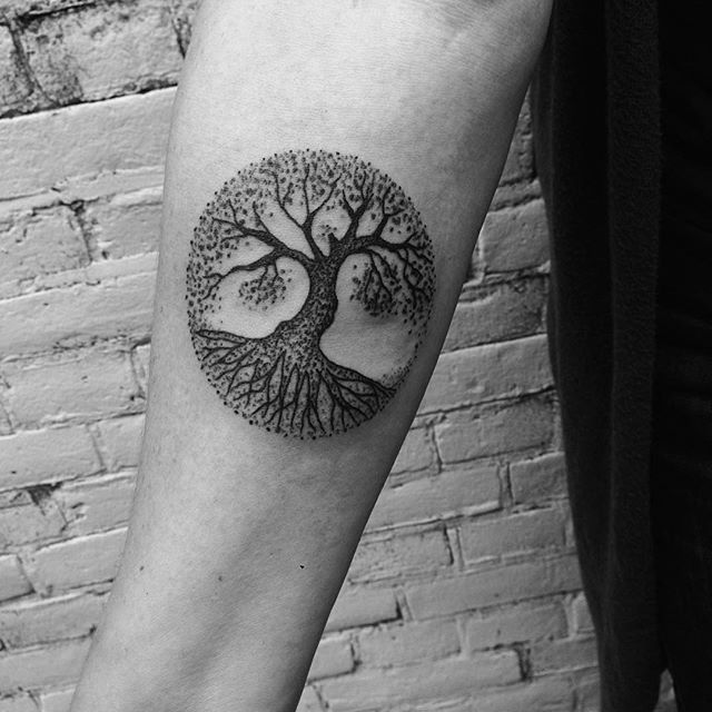 Tree of life tattoo on the arm