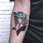 Waterfall landscape tattoo