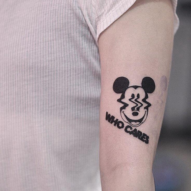 Who cares tattoo