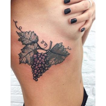 Grapes on a branch tattoo