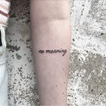 No meaning tattoo