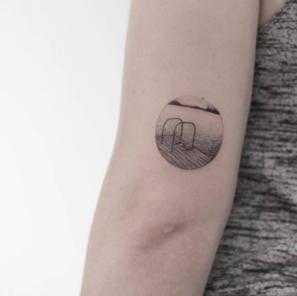 Swimming pool ladders tattoo