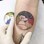 Abstract picasso painting tattoo