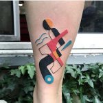 Abstract colorful tattoo by luca font