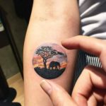 African scenery tattoo