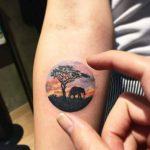 African scenery tattoo