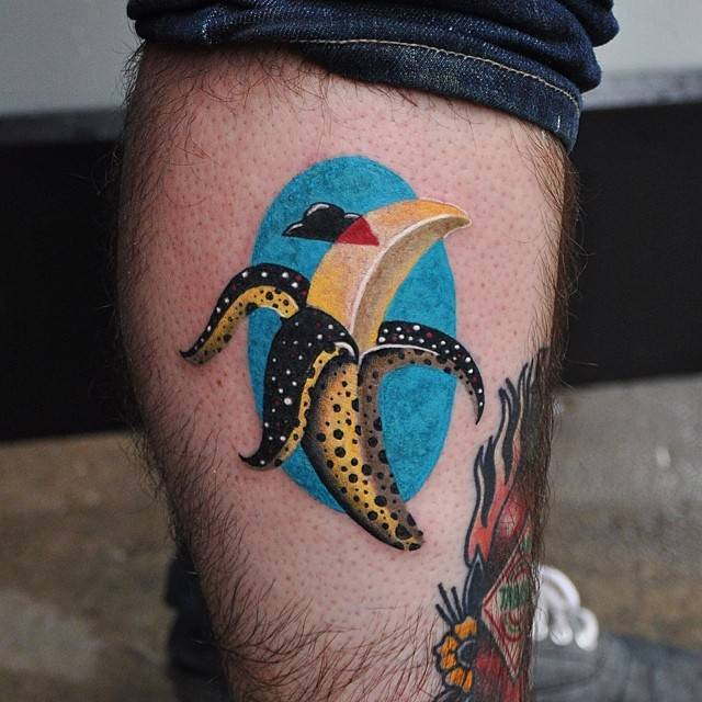 Banana tattoo inspired by michela picchi