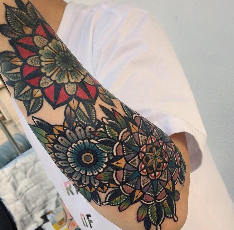 Beautiful flower tattoos by mico tattoo