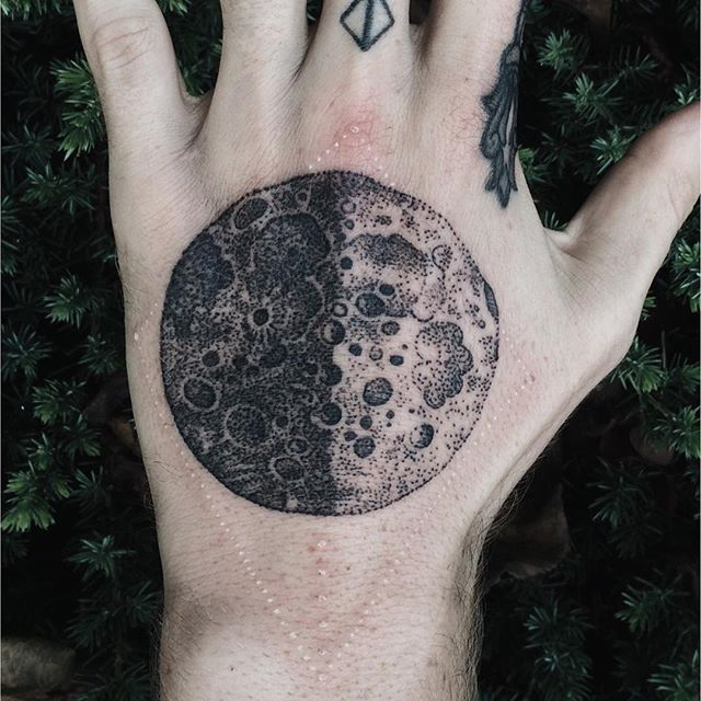 Black and grey moon