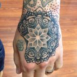 Black mandala tattoo by matt lentz